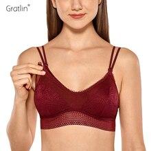 Gratlin יולדות נשים חזיית הנקה רך לנשימה תחרה נשים בהריון הנקה תחתונים