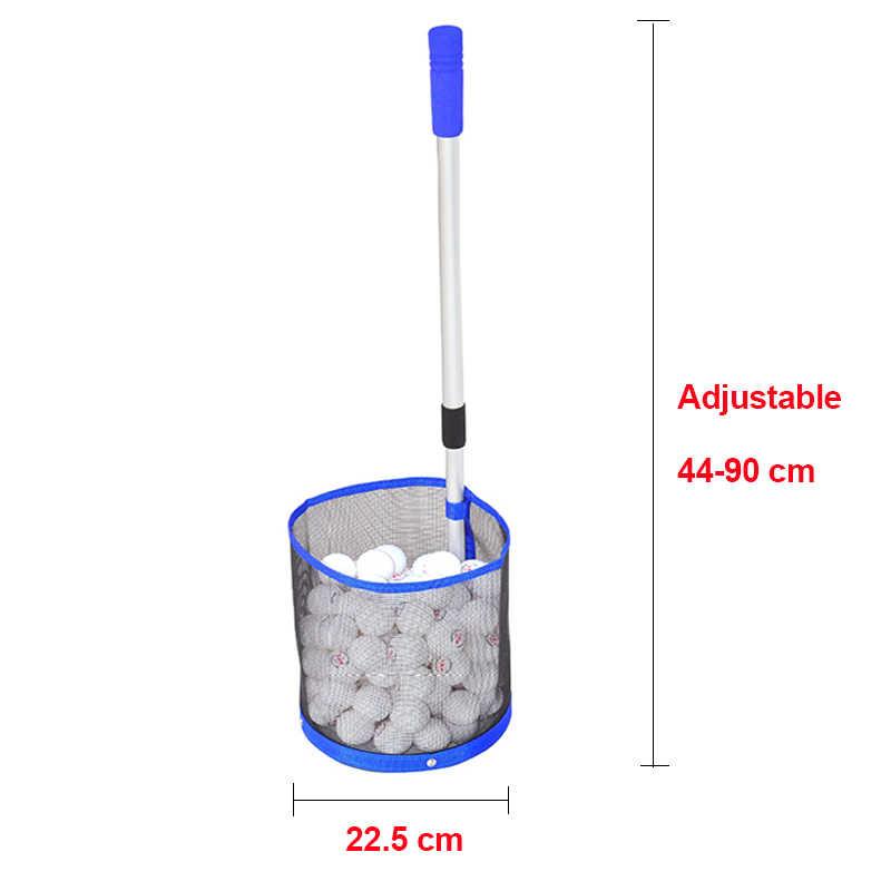 La Collection télescopique de filet de cueillette de Tennis de Table de poteau en aluminium de 2 sections peut contenir 120 pièces balles de Ping-Pong