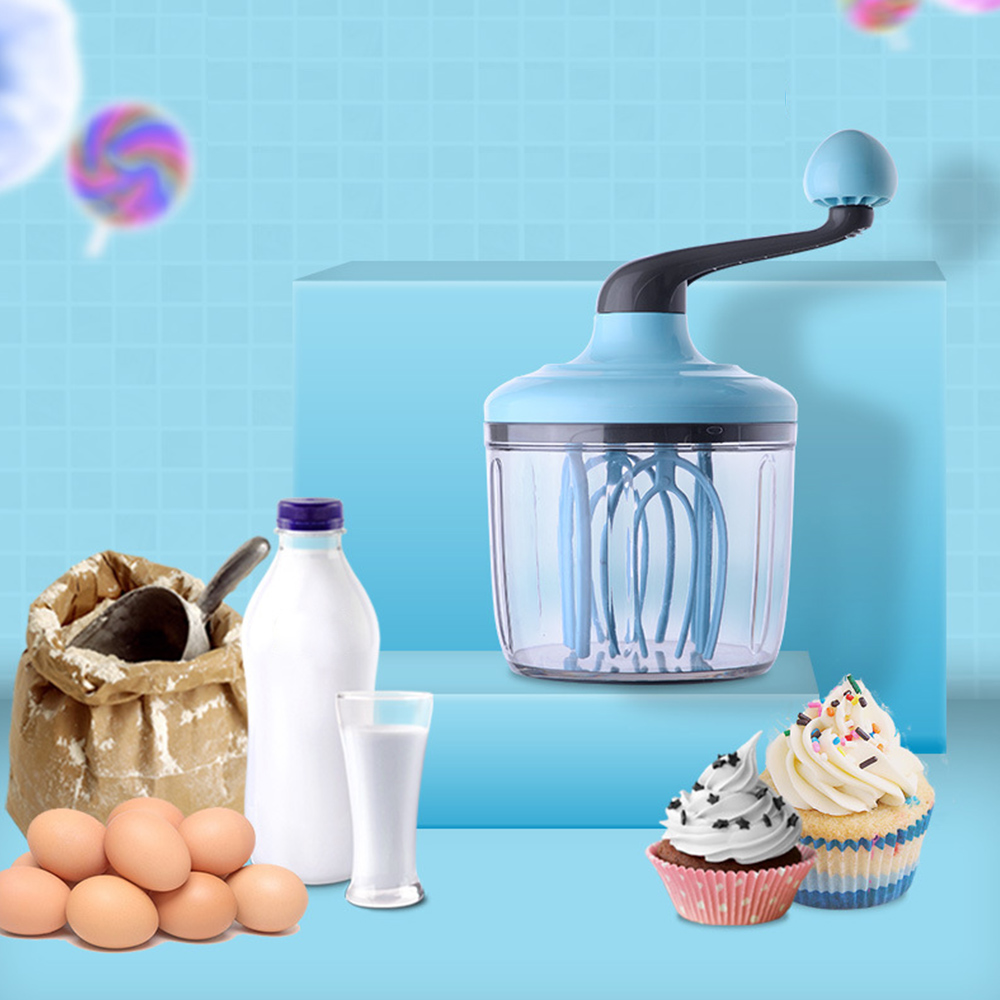 Multifunctional Manual Household <font><b>Egg</b></font> Beater Whisk Hand-Cranked Stirring Cream Butter Mixer Kitchen Blender DIY Baking Supply image