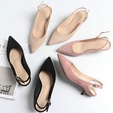 Giày Nữ Slingbacks Giày Cao Gót Giày Người Phụ Nữ 2020 Đàn Mũi Nhọn Cổ Bơm Cao Giày Cao Gót Nữ Cưới Giày Xăng Đan máy Bơm