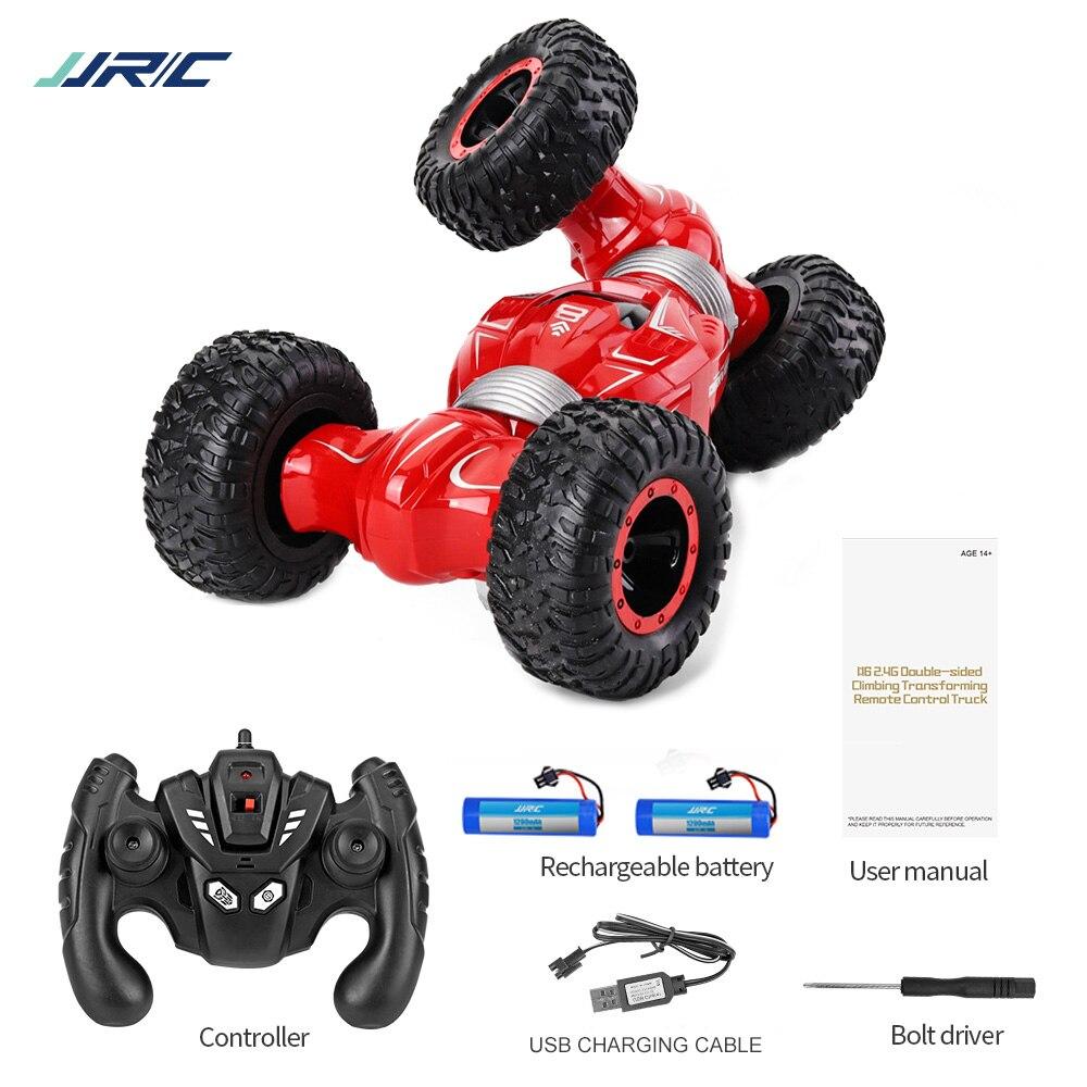 JJRC Q70 2 batteries 4 WD 2.4GHz RC chenille voiture Twister-Double face retournement déformation escalade RC voiture RTR jouet cadeau pour les enfants