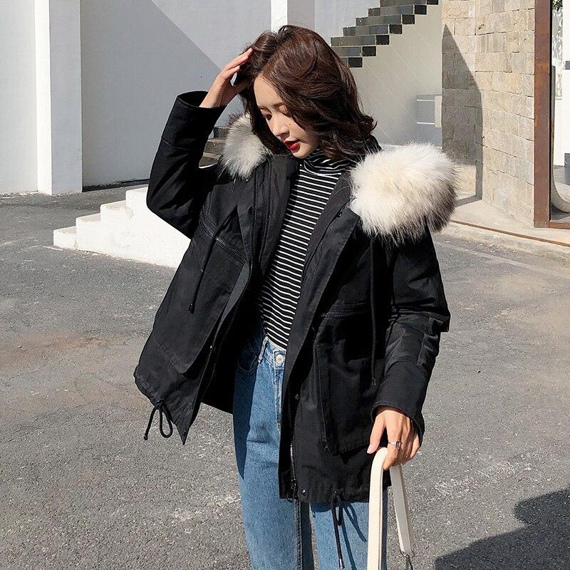 90% Duck Down Jacket Woman Hooded Parka Winter Coat Women Raccoon Fur Collar Long Coat Korean Parkas Abrigo Mujer MY1514