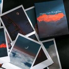 30 pçs/caixa adesivos de paisagem criativa nuvens lua floresta fogos de artifício bala acessórios decoração adesivos estéticos