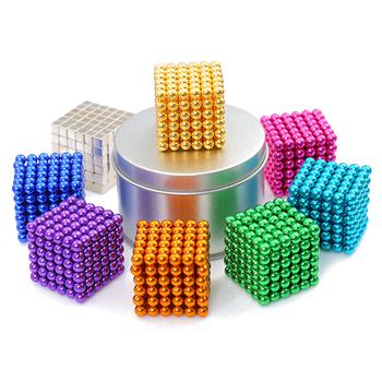 Hurtownie magnes metalowe kulki 5mm 216 sztuk zestaw magnetyczne stick Building Blocks projektant budowy kreatywne zabawki edukacyjne dla dzieci tanie i dobre opinie Building Toys neo puzzle beads 14Y