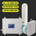 2G 3G 4G GSM 900 WCDMA FDD LTE 2600 усилитель сигнала сотового телефона GSM 3G 4G LTE 2600 повторитель 900 2100 2600 сотовый телефон 2600 усилитель