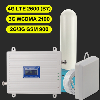 2G 3G 4G GSM 900 WCDMA FDD LTE 2600 Cell Phone Signal Booster GSM 3G 4G LTE 2600 Repeater 900 2100 2600 Cell Phone 2600 Booster фото