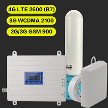 2G 3G 4G GSM 900 WCDMA FDD LTE 2600 Handy Signal Booster GSM 3G 4G LTE 2600 Repeater 900 2100 2600 Handy 2600 Booster