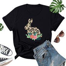T-Shirt Manches Courtes col rond femme, imprimé Léopard, Slim, À la Mode, nouveauté, m0306, 2020