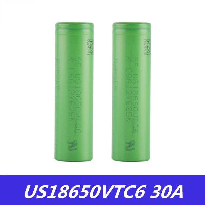18650 Battery VTC6 3.7V 3000mAh Rechargeable Li-ion Battery 18650 US18650VTC6 30A For E-Cigarette Box Mod Toys Tools Flashligh