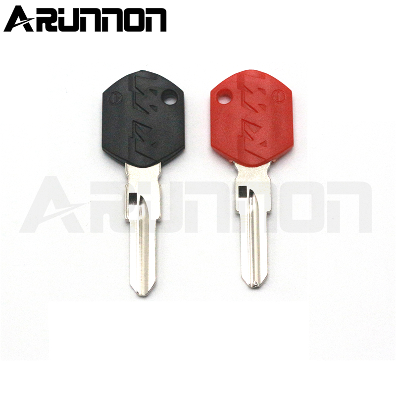 For KTM DUKE 125 250 390 690 990 Motorbike Racer Good Quality Brand New Black / Red Motorcycle Blank Key Uncut Blade