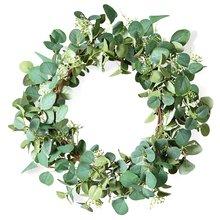 Искусственный зеленый цветок эвкалипта 20 дюймов листья подвесной