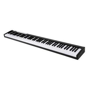 88 клавишное пианино портативный цифровой электронный контроллер пианино клавиатура сенсорная MIDI/USB светильник пианино с сумкой для перено...