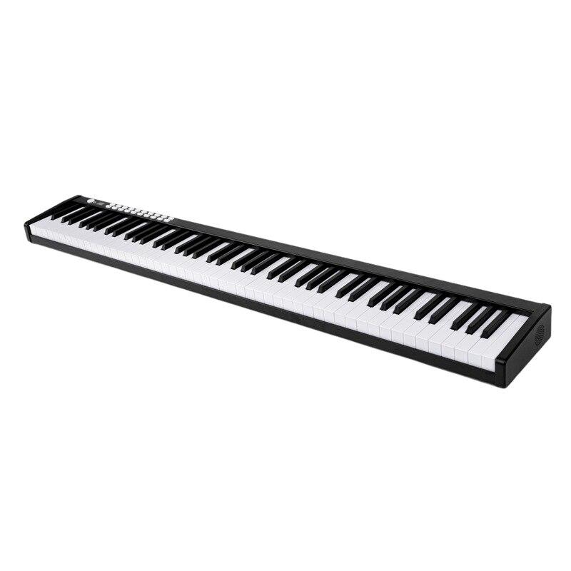 Portátil com 88 Luz de Piano com Bolsa para Carregar Piano Digital Teclas Controlador Eletrônico Teclado Touch Sensível Midi – Usb