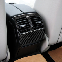 Carbon Fiber Interior Decoration Rear Air Vent Outlet Cover Trim for Mercedes Benz Old C Class Car Decals Accessories Brand New 2 styles armrest box cover for w212 e class mercedes benz 2012 2019 rear air conditioning outlet inlet vent frame trim stickers