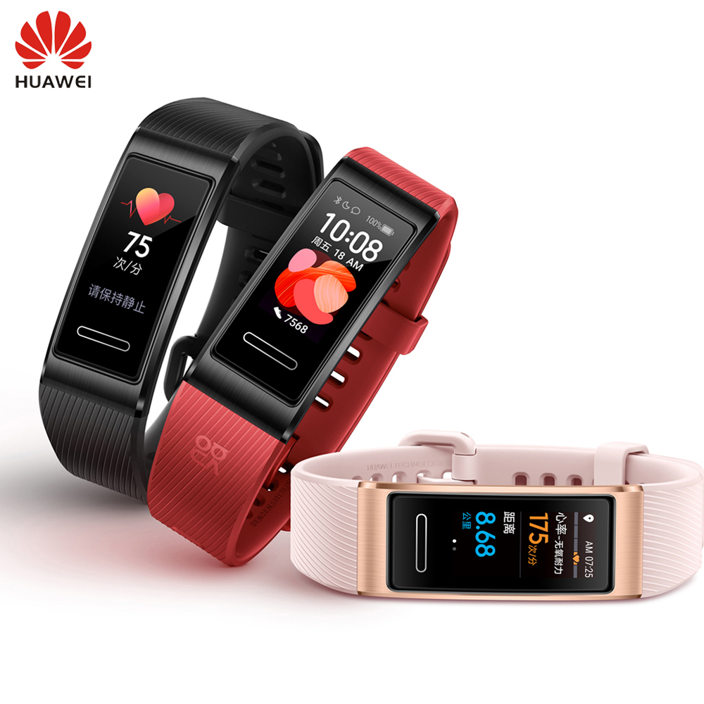 Huawei Band 4 Pro GPS Smart Band Metal Frame Color Touchscreen Blood Oxygen Swim Heart Rate Sensor Sleep Bracelet NFC Support