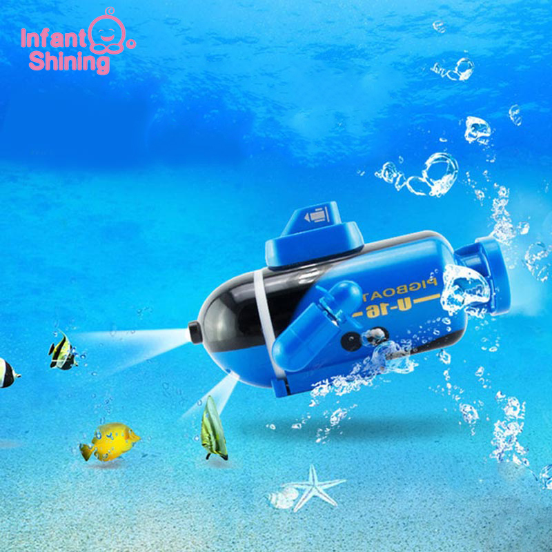 Infant Shining Submarine Toys  Kids Mini Electric Remote Twin-screw Waterproof Control 3Colors  Babys Birthday Gifts Toys