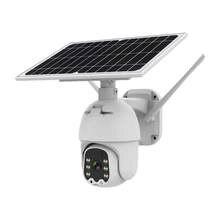 Wifi versão 1080p hd painel solar de vigilância ao ar livre à prova dwaterproof água cctv câmera casa inteligente two-way voz intrusão alarme