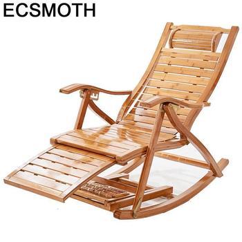 Divano Divani, grifería mecedora de bambú, silla de salón, Cama Reclinable Plegable,...