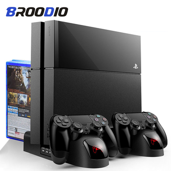 control for sony ps4 game console play station playstation ps 4 pro cooler cooling fan dc 5v usb gadget controller refrigeration PS4/PS4 Slim/PS4 PRO Vertical Stand For SONY Playstation 4 Cooler With Cooling Fan For PS4 Console Controller Charging Station