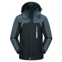 Outdoor Men Hoodie Waterproof Windproof Jacket Coat Hiking Autumn Ski Sport For