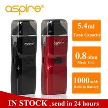 מתנה Aspire רוח NXT Vape ערכת 5.4ml Pod טנק מרסס 0.8ohm רשת סליל מובנה 1000mah סוללה Vaper אלקטרוני סיגריות ערכה