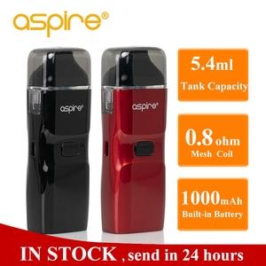 Image 1 - Vaper Aspire Breeze NXT Vape Kit 5.4ml Pod Tank Atomizer 0.8ohm Mesh Coil Built in 1000mah battery Electronic Cigarette Kit