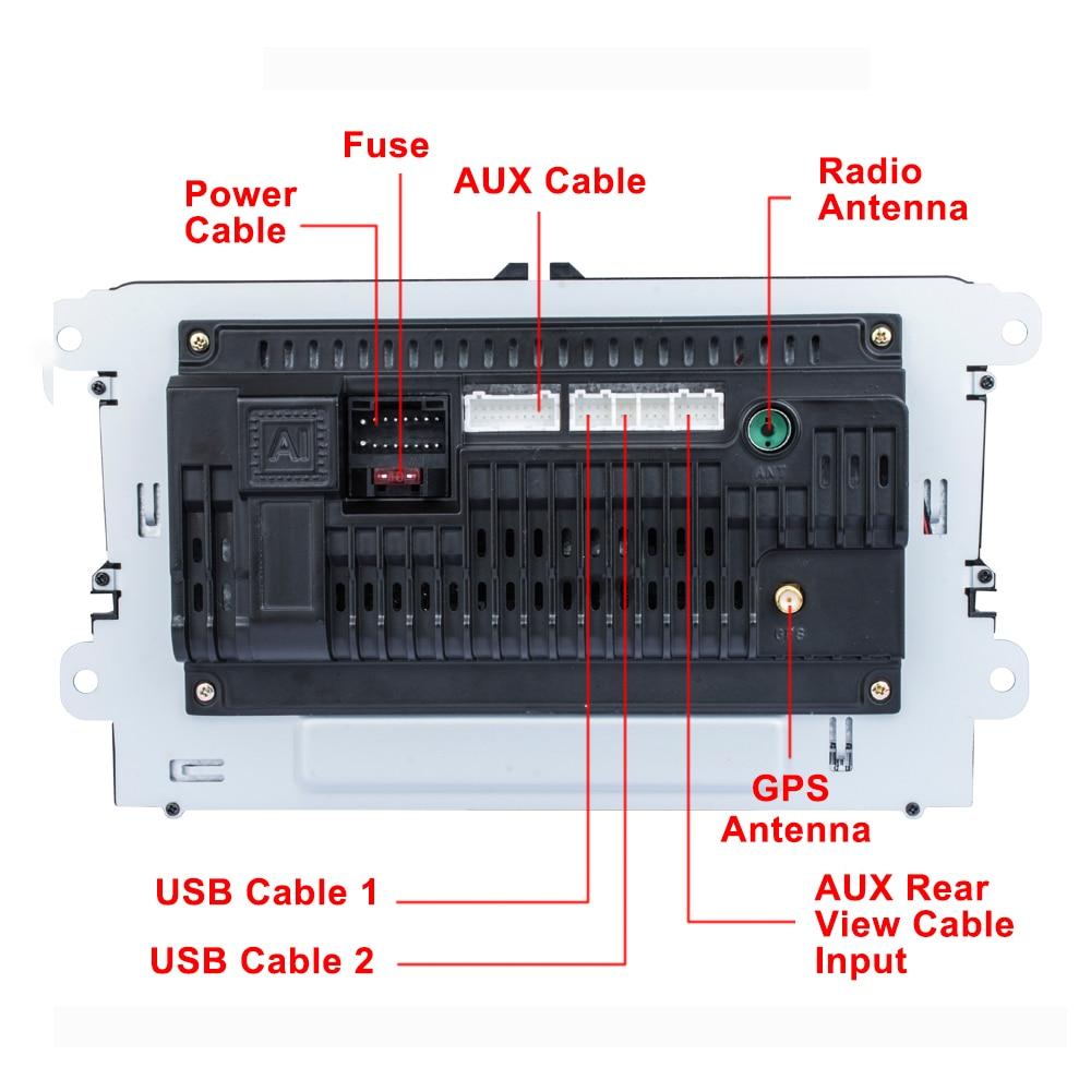 Podofo 9 ''Android 8.1 voiture lecteur multimédia 2 din Autoradio pour VW/Golf/Polo/Tiguan/Passat/Seat/leon/Skoda/Octavia - 6