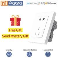 Aqara Xiaomi Smart Socket Wireless Wall Outlet Switch socket Smart life Wireless Remote Plug App control for Mi home mijia app
