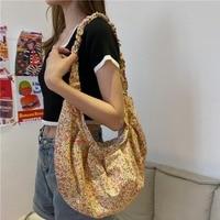 Hobos florales para mujer, bandoleras informales, bolsa de mensajero de lona, bolso grande vintage, 2020