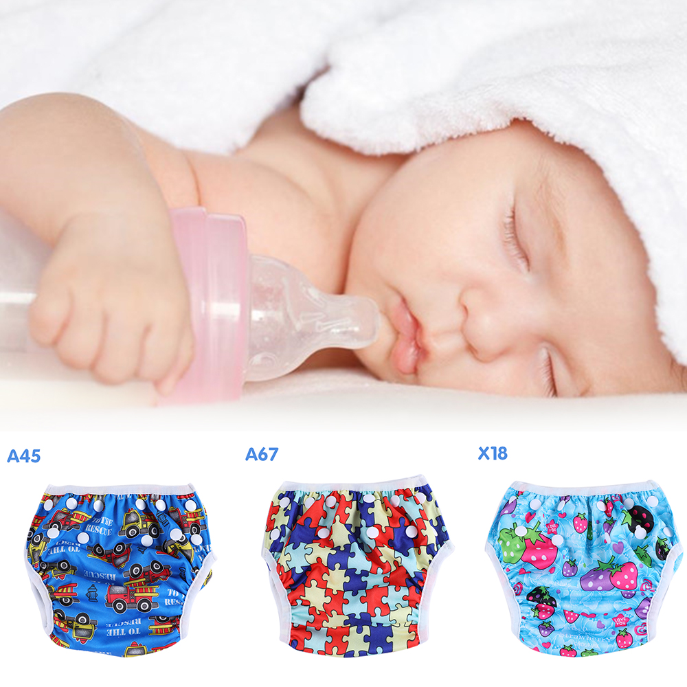 New Baby Swim Diapers Waterproof Adjustable Cloth Diapers Pool Pant Swimming Diaper Cover Reusable Washable Baby Nappies