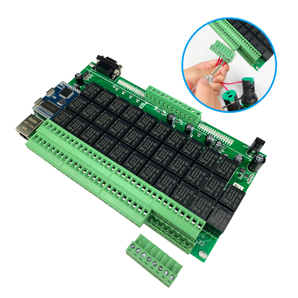 32 Channel Ethernet Smart Relay Control Board LAN And Remote  Sensor Timer Scene For Home Automation Diy