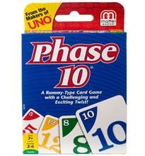 UNO Phase 10 Kartenspiel, Fun haute Fun multijoueur jouet conceptions payant carte de jeu de société famille fête jouet