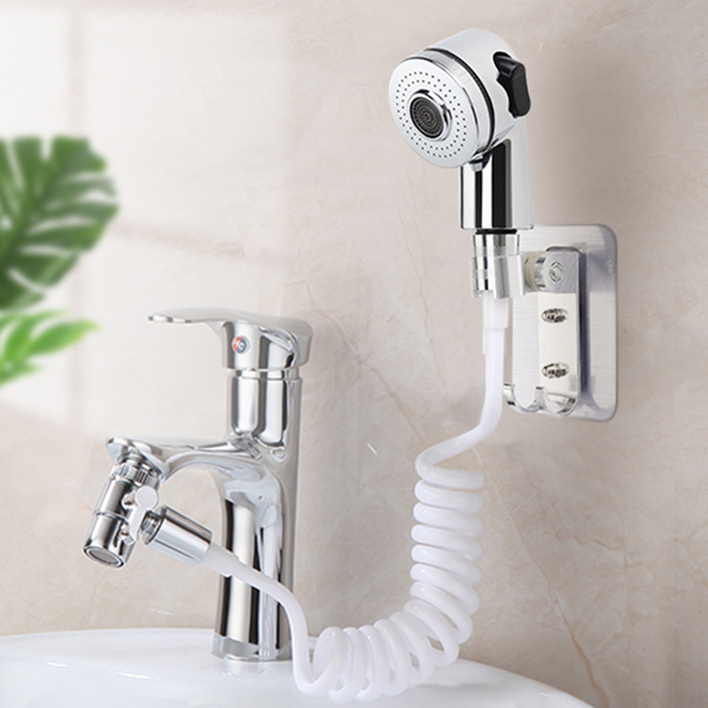 faucet shower head spray set washing hair sink connector handheld shower with hose bathroom wash face basin water tap