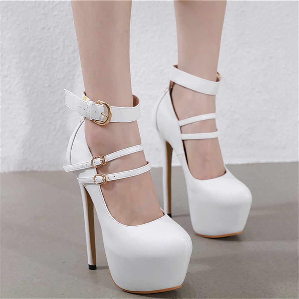 Новинка 2020 года; женские пикантные туфли на очень высоком каблуке 17 см; Scarpins; вечерние туфли-лодочки для выпускного; женские туфли на платформе 6 см; Фетиш-День Валентина; свадебные туфли