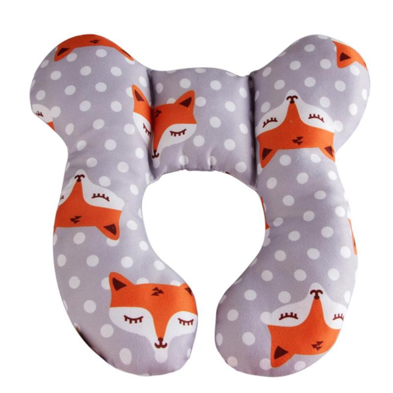 Baby U-Shaped Head Fixed Pillow Baby Stroller Padding Cotton Kids Protection Cushion Safe Soft Newborn Head Body Support Pillows