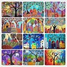 Shayi diy 5d алмазная живопись красочная мультяшная елка пейзаж