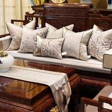 Funda de almohada oriental elegante Vintage/almofadas, funda de cojín trasero de bambú de nube 45 50 60, funda de almohada decorativa retro