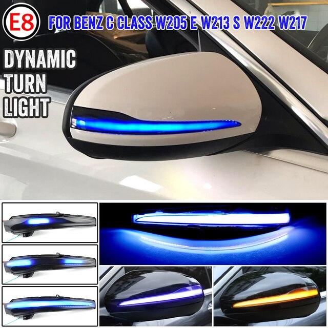 Dynamische Blinker Blinker Sequentielle Seite Spiegel Anzeige Licht Für Mercedes Benz C E S GLC W205 X253 W213 W222 V Klasse W447
