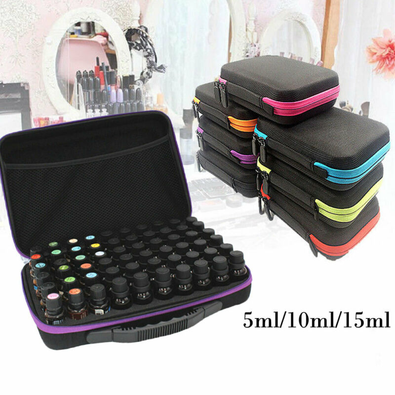 60 Bottle Essential Oil Carry Case 10ML15ML Holder Storage Aromatherapy Hand Bag