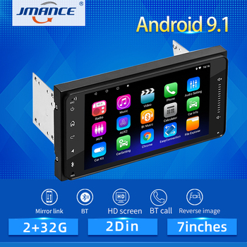 JMANCE 2 din android 9.1 Car Multimedia Player Car Radio Player Stereo for Toyota VIOS CROWN CAMRY HIACE PREVIA COROLLA RAV4 image