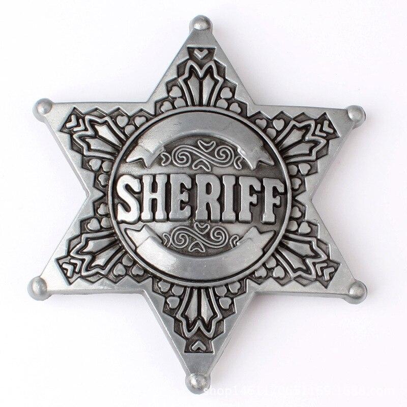 waistband DIY Sheriff Belt Buckle homemade handmade belt Components Western cowboy police