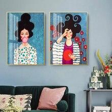 Модные цветочные постеры для девочек Раскрашивание на холсте
