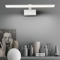 Mirror Light Nordic Black And White Bathroom LED Lamp Mirror Headlights Make up Dresser Dressing Room Bathroom Wall Lampara