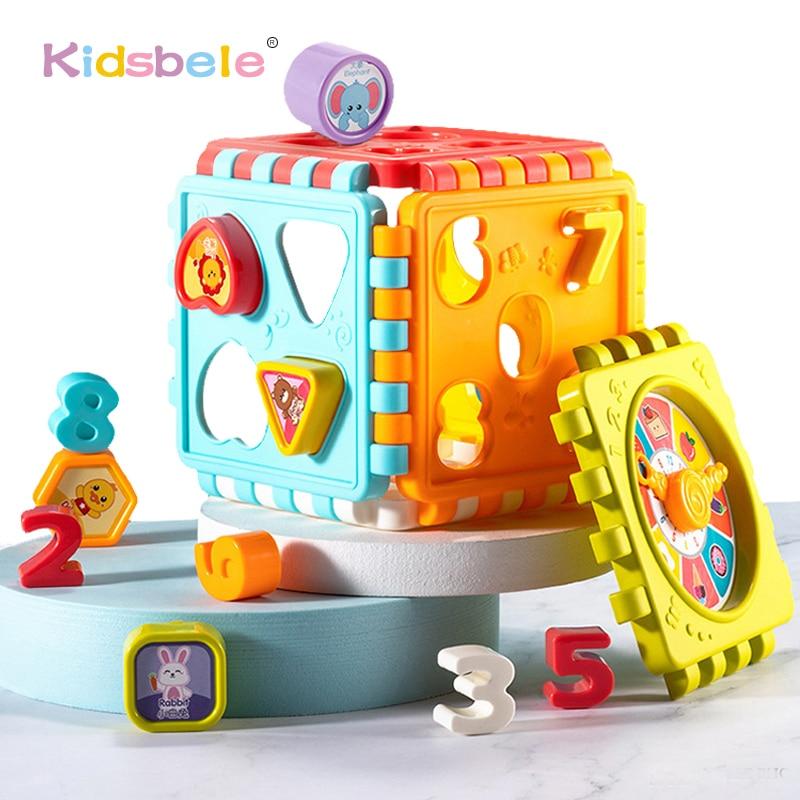 Baby Aktivität Cube Spielzeug Form Sortierung Kleinkind Frühen Lernen Pädagogisches Spielzeug Infant Erste Blocks Set Bunte Anzahl Sorter
