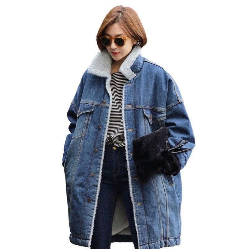 New Warm Winter Bomber Women Winter Autumn Thick And Warm Maternity Coat Denim Jackets Basic Ladies Top Windbreaker Female Large