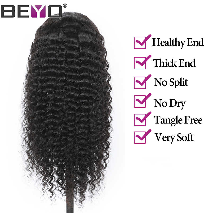 13X6 Lace Front Human Hair Wigs For Black Women 13X4 Malaysian Deep Wave Lace Front Wig Beyo Remy Hair Swiss Lace Wig