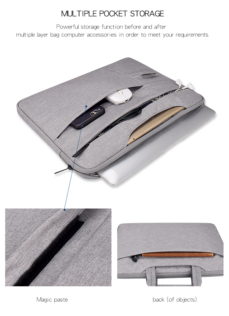 Universal Laptop Bag 13.3/14.1/15.6 inch Notebook Messenger Sleeve for Macbook Computer Handbag  Shouder Bag Travel Briefcase