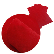 20*34 см одноцветные двухсторонние бархатные листы из искусственной кожи, материалы для ручных поделок для ручной работы, 1Yc5677