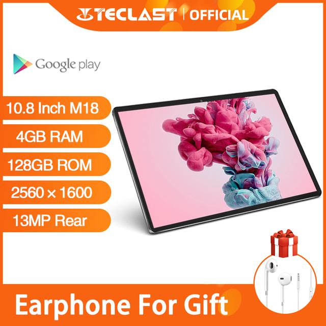 Teclast M18 10.8 Inch IPS Android Tablets 2560×1600 Resolution 4GB RAM 128GB ROM 13MP Rear 5MP Front 4G Network Phone Call