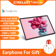 Teclast M18 10.8 Inch Ips Android Tabletten 2560 × 1600 Resolutie 4Gb Ram 128Gb Rom 13MP Achter 5MP voor 4G Netwerk Telefoontje